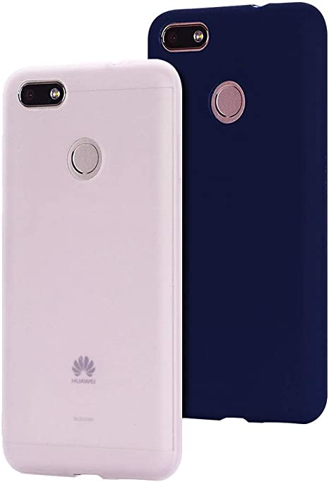 2 Pack Cover Huawei Y6 PRO (2017) Custodia Huawei Enjoy 7, SpiritSun Ultraslim Silicone Soft TPU Case Antiurto Custodia per Huawei Y6 PRO(2017)/Enjoy ...