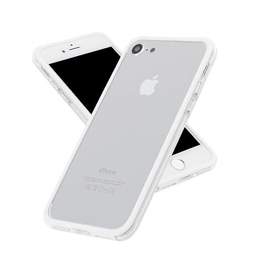 c04d43a351 Amazon | SZMM ?iPhone7電話エッジプロテクター カバー 耐衝撃 PCゴムカバー ケース フレーム バンパー ホワイト | ケース・ カバー 通販