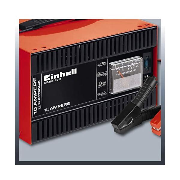 514qDm7qQeL Einhell 1050821 Batterie-Ladegerät CC-BC 10 E (12 V, für Batterien von 5-200 Ah, Ladeelektronik, Stahlblechgehäuse, inkl…