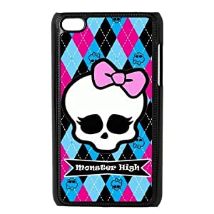 LeonardCustom- Cartoon Monster High Hard Plastic Cover Case for iPod Touch 4 iTouch 4th Generation [Black / White] -LCP4U517
