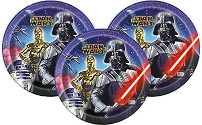 "Disney Star Wars Dinner Paper Plates 9"" (24 Count)"