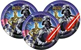 Disney Star Wars Dinner Paper Plates 9'' (24 Count)