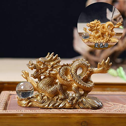 - Mascot Dragon Tea Pet Kung Fu Tea Accessories Color Change Home Decoration Gift Luck Home Furnishing Articles
