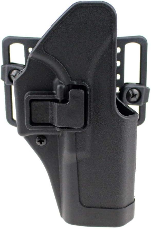 Gexgune Tactical Right CQC Funda de Pistola Ocultación Militar Cintura Cinturón Loop Paddle Holster para Glock 17 19 22 23 31
