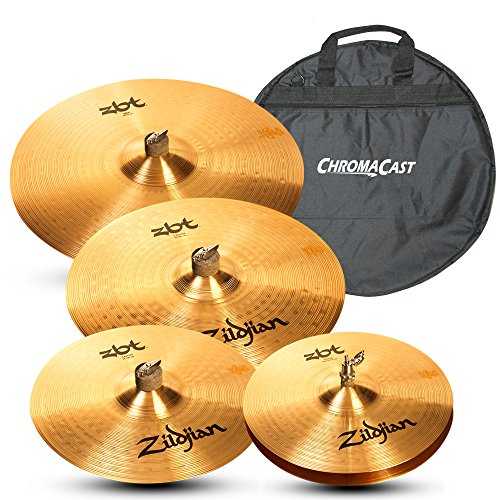 (Zildjian ZBT 5 Piece Cymbal Pack with Zildjian Cymbal Bag)