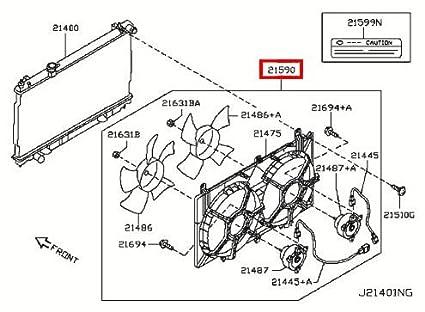 Amazon Com Infiniti 21481 Cm30b Engine Cooling Fan Assembly