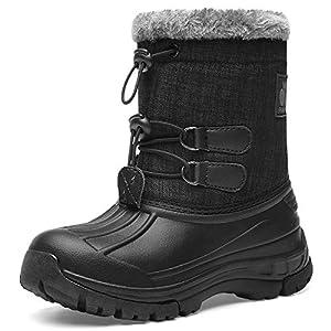 Kids Snow BootsBoys & GirlsWinterBoots Lightweight Waterproof Cold Weather Outdoor Boots (Toddler/Little Kid/Big Kid)