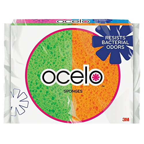 ocelo Handy Sponge, 4.7-Inches x 3-Inches x 3/5-Inches, 4-Count