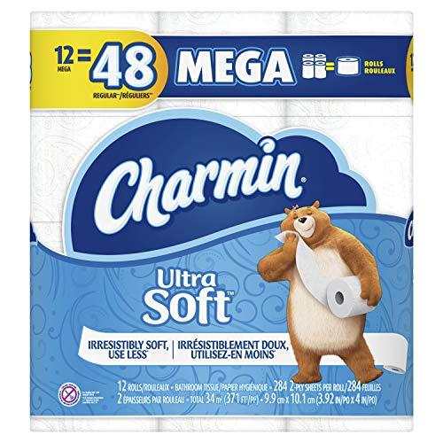 Charmin Ultra Soft Toilet Paper Mega Rolls, 12 ct