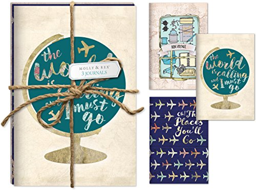 Molly and Rex Jetsetter 3 Pack with Twine Journal