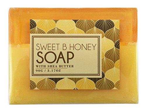 Butter Olive Cocoa Oil (BeautyFrizz Natural Honey Soap Bar | Gentle Moisturizing Body Soap with Olive Oil & Cocoa Butter | Hydrating Soap to Cleanse and Brighten Skin | Scented Soap for Women (1 Pack))