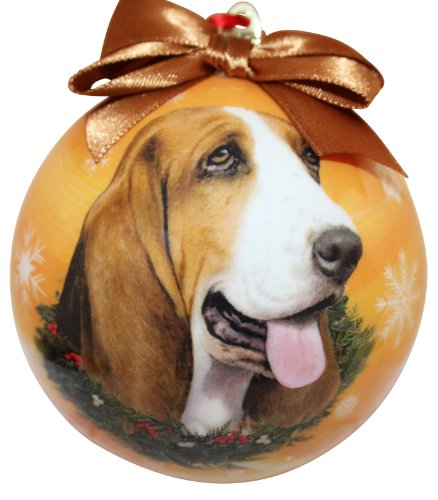 Basset Hound Christmas Ornament Shatter Proof Ball Easy To Personalize A Perfect Gift For Basset Hound Lovers