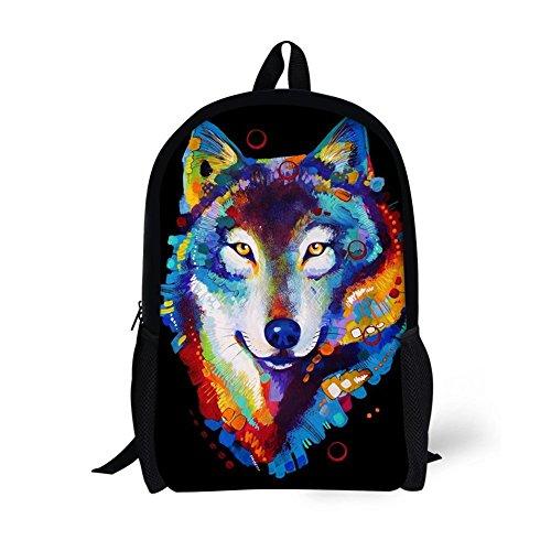 Bag Print Unisex Rucksack Backpack inches 05 Varied 16 Students College 31 Animal 3D Pattern Adult Patterns Bookbag Amint q1wpIPq