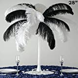 BalsaCircle 12 pcs 28'' tall White Glass Eiffel Tower Vases for Wedding Party Flowers Centerpieces Home Decorations Bulk Supplies