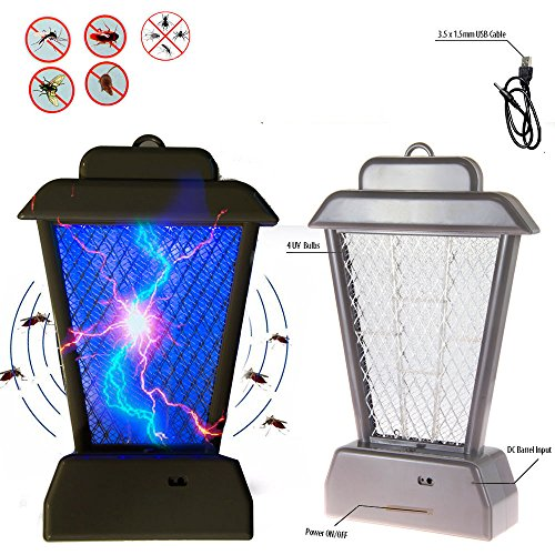 Marketworldcup-New Insect Controller Mosquito Bug Zapper UV Light Fly Pest Bug Trap Lamp Killer
