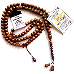 Muslim Prayer Beads 663-N Haji Tasbih Beads Zaitun (Olive) Wood Hand Made - 99 Beads 10 mm.