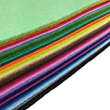 flic-flac 42pcs 8 x 12 inches (20cm30cm) 42 Colors for Choice A4 Felt Fabric Sheet Assorted Color Felt Pack DIY Craft Patchwork