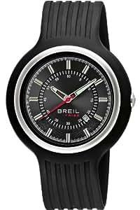 Breil TW0407 - Reloj analógico de cuarzo para hombre con correa de caucho, color negro