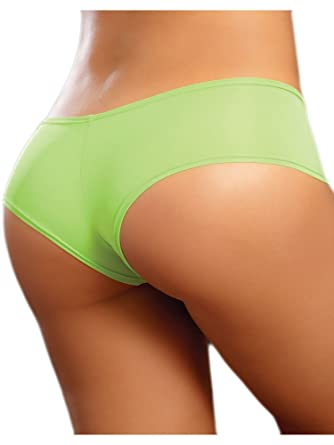 Mix   Match Sexy Neon Green Low Rise Cheeky Boy Shorts Nylon Panties -  Small  9d9a74d82