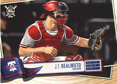 Phillies Mlb Trading Card - 2019 Big League Baseball #96 J.T. Realmuto Philadelphia Phillies Official MLB Trading Card From Topps