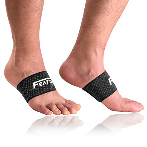 Arch Support, Compression Arch Sleeves Plantar Fasciitis Brace for Pain Relief, Heel Spurs and Flat Feet(1 Pair) ...