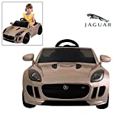 Official Licensed Jaguar F-TYPE Ride On Car With Remote Control For Kids Painted Champagne | 12V Power Battery Electric Kid Car To Drive With 2.4G Parental Control & Openable Doors