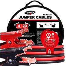 TOPDC Battery Jumper Cables 4 Gauge 20 Feet Heavy Duty Booster Cables with Carry Bag (4AWG x 20Ft)