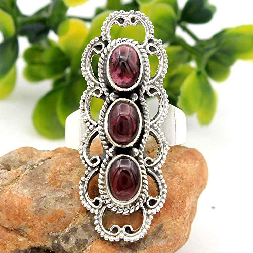 Mother's Day Special Gift Red Garnet Gemstone Ring 925 Sterling Silver Jewelry Designer Ring Wedding Ring Unique Silver Ring