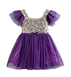 Toddler Princess Ballerina Sequin Flower Dress