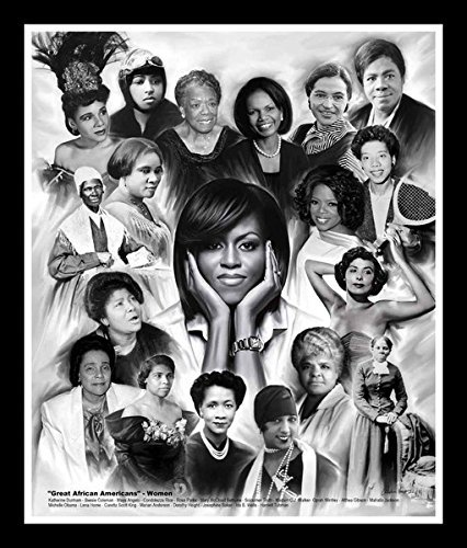 (Great African American Women by Wishum Gregory (11x8.5 inches - Black Frame))
