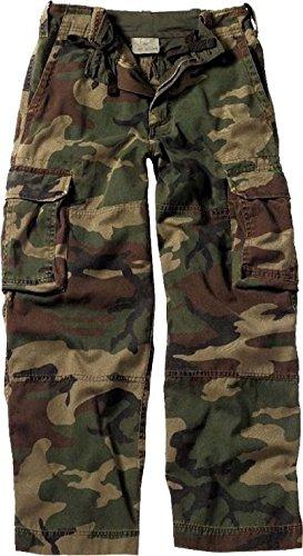 Kids Woodland Camouflage Vintage Paratrooper Pants