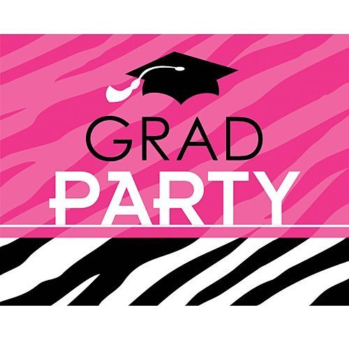 Graduation Party Zebra Invitations Package of 50 (Graduation Zebra Invitation)