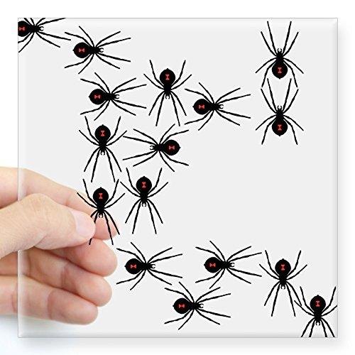 CafePress - Creepy Crawly Spiders Sticker - Square Bumper Sticker Car Decal, 3