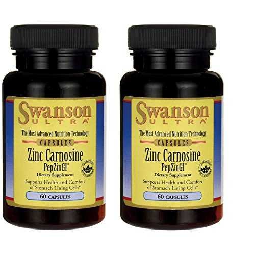 Swanson Zinc Carnosine (Pepzin Gi) 60 Capsules 2 Pack (Best Zinc Carnosine Supplement)