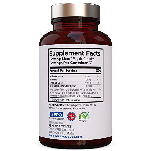 All Natural Sleep Aid Supplement. Non-Habit Forming Sleeping Pill. Our Guarantee is A Deeper, Longer & Restful Sleep! Starting Tonight Get the Peaceful & Natural Sleep You Deserve! by Renew Actives (Image #7)