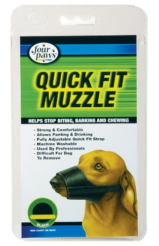Four Paws Quick Fit Muzzle, Size 0-XXS