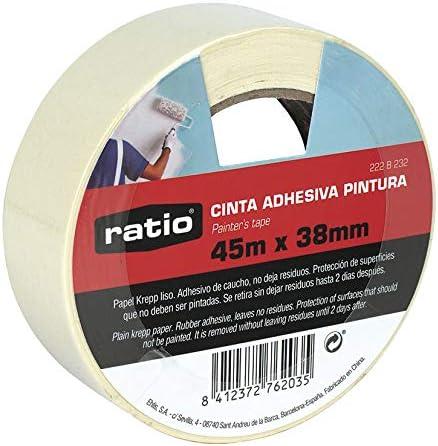 Ratio Cinta Adhesiva krepp Liso 38mmx45m