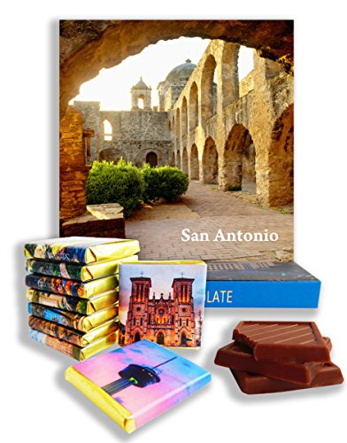 DA CHOCOLATE Candy Souvenir SAN ANTONIO Chocolate Gift Set 5x5in 1 box - Shops Park Square Mall