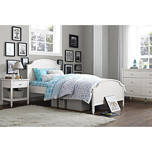 Dorel Living Vivienne Bed, Twin, (Girls Sleigh Bed)