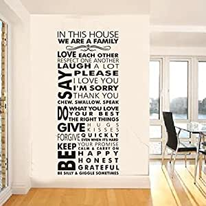 Home English Proverbs Wall Sticker Bedroom Living Room Background Home Decor Removable Stickers Mural Drawings 55*128 cm