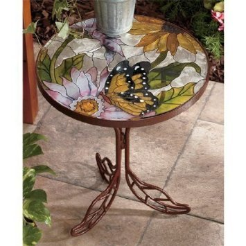 Ordinaire Butterfly Stained Glass Accent Tables