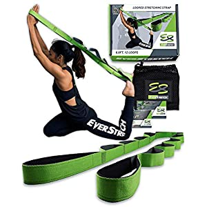 EverStretch Non-Elastic Stretching Strap with Loops – Move Freely with This Looped Stretch Strap Premium Stretch Band…