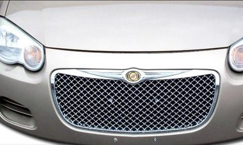 R&L Racing Chrysler Sebring Chrome Luxury Style Mesh Front Hood Bumper Grill Grille