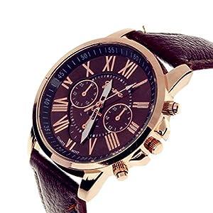 TrifyCore Reloj de Mujer Geneva Correa Doble Capa Nueva marrón 1 Paquete (con Cargo) 514qJ6xkT6L