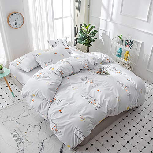 LYGIRL Bedding set four-piece student dormitory 1.2 Bed Sheets three-piece set 1.5m quilt cover 1.8//2.0m-H-full1.5mbed