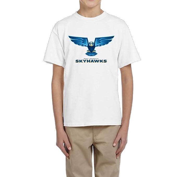 Point Universidad Skyhawks macho Boy Camisetas Algodón Orgánico O-Neck Camisas: Amazon.es: Ropa y accesorios