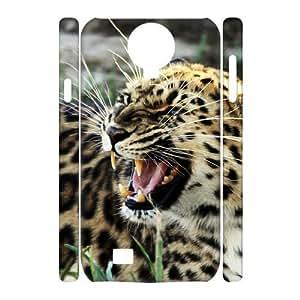 3D Cheetah Series, Samsung Galaxy S4 Case, Angry Cheetah Case For Samsung Galaxy S4 [White]
