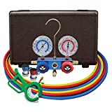 "Mastercool (98661-PRO) Blue R134A and R-12 Dual Manifold Gauge Set with 60"" Hose"