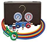 Mastercool (98661-PRO) Blue R134A and R-12 Dual Manifold Gauge Set with 60'' Hose