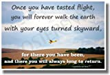 Once You Have Tasted Flight... - Leonardo Da Vinci Motivational Poster